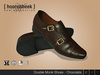 Double Monk Shoes - Chocolate