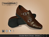 Double Monk Shoes - Brown