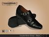 Double Monk Shoes - Black