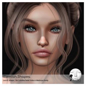 .Elemiah.shapes.LEL01 - for Lelutka Bento head AIDA & Maitreya