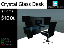 Glass Desk and Chair BOXED