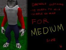 :Beast Creations: - direwolf clothing for MEDIUM size