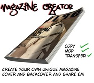 [VD]Magazine Creator- Create your own magazine - Full Perms
