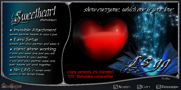 *DS* Sweetheart (Beholden)