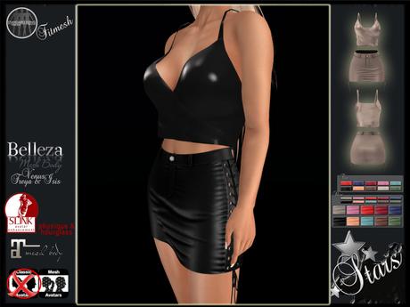 Stars - Maitreya skirt & top, Slink, Belleza - Raine