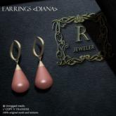 Romazin - Earrings <Diana>brown
