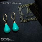 Romazin - Earrings <Diana> sea