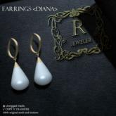 Romazin - Earrings <Diana> white