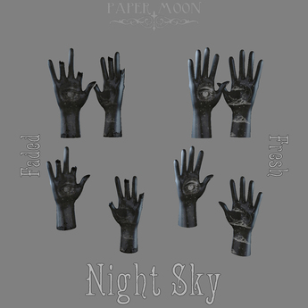*pm* Tattooed Plaster Hands: Night Sky