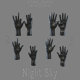*pm* Tattooed Plaster Hands: Night Sky