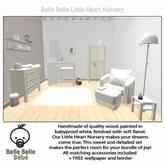 Baby Nursery White- Belle Belle Furniture