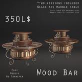 [Figure 8] Steampunk Coffee Table Wood Bar