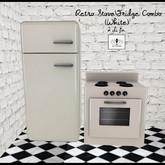 The Jewel Garden - Retro Fridge\Stove Combo-White