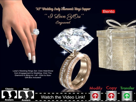 Second Life Marketplace As Lady Wedding 25ct Diamond Rings