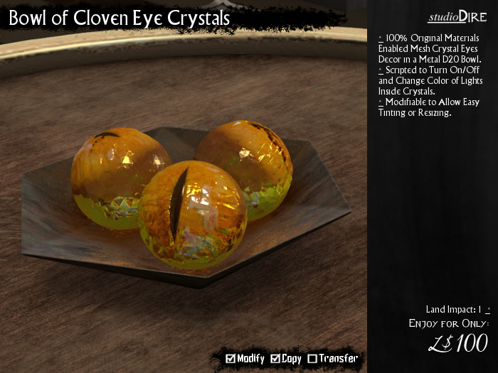 /studioDire/ Bowl of Cloven Eye Crystals