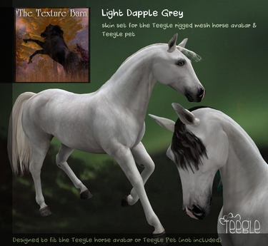 Teegle Texture Pack - Light Dapple Grey  - Texture Barn