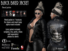[lf design] Black Biker Jacket