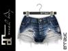 erratic / skylar - denim shorts / 06.blue (maitreya)