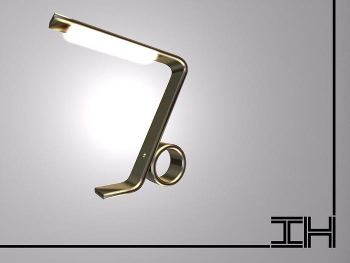 "Desk lamp ""Seven - gold"" 1prim"