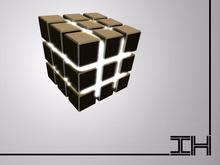 """Desk lamp """"Rubics cube - gold"""""""
