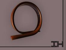 """Desk lamp """"Loop - mahogany"""""""