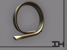 """Desk lamp """"Loop - gold"""""""