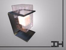 "Desk lamp ""Glowing block - quartz"""