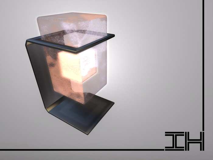 "Desk lamp ""Glowing block - ice"" 1prim"