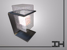 "Desk lamp ""Glowing block - glass"" 1prim"