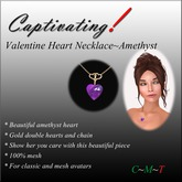 Capltivating! Valentine Necklace-Amethyst