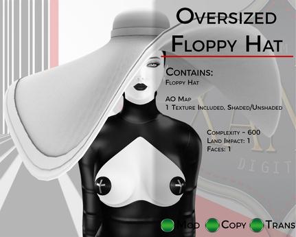 Oversized Floppy Hat - Full Perm