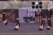 :: ANTAYA :: WHRH Sheepskin horse boots \ Original mesh