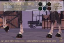 :: ANTAYA :: WHRH Sheepskin horse bellboots \ Original mesh