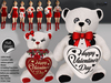 [SuXue Mesh] Valentine Teddy Bear Tonton Hug Me - With [Hud] Girl and Boy - 6 Holding Animations - Add or wear - Resize
