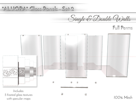 ALUORA Glass Panels Set02 - Single & Double Walls