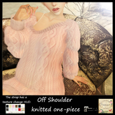 ***Ambrosia***Off Shoulder knitted one-piece[pink] ~Maitreya