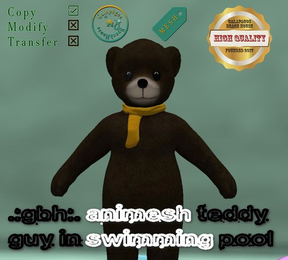 .:GBH:. Animesh guy teddy swimming