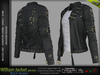 WILLIAM BLACK SINGLE COLOR JACKET WITH TOP Male, MESH - SIGNATURE GIANNI - GERALT, SLINK, BELLEZA JAKE - FashionNatic