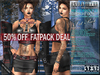 FATPACK - buy all colors @ 50% off - Bella Moda: Mezzanotte Midnight Outfits - Fitted for Maitreya/Physique/Classic+Std