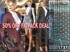 FATPACK - buy all colors @ 50% off - Bella Moda: Tuta Femmina Female Suits: 2 Versions Included + Shoes / 5 Std + Fitted