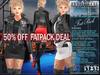 FATPACK - buy all colors @ 50% off - Bella Moda: Divo Rock Star Outfits: Fitted for Maitreya/Slink/Belleza/Classic Sizes