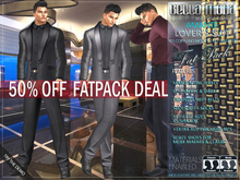 FATPACK - buy all colors @ 50% off - Bella Moda: Amante Lover's Suits with Shirts & Matching Shoes. Fitted Mesh Sizes