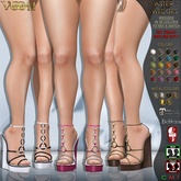 """ VOOH "" ASTER WEDGES 20 COLORS MIX & MATCH  {FOR MAITREYA, BELLEZA & SLINK HIGH FEET}"