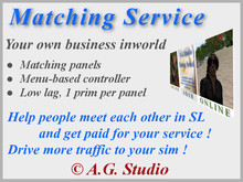 A.G. Matching service 3.3 / Dating panels system