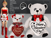 [SuXue Mesh] Valentine's Day Teddy Bears Ponpon Hug Me - With [Hud] Girl and Boy Teddy Bears - Resize - DEMO