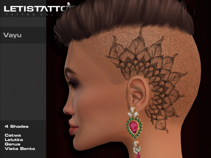 Letis Tattoo :: Vayu :: Head Tattoo With Appliers