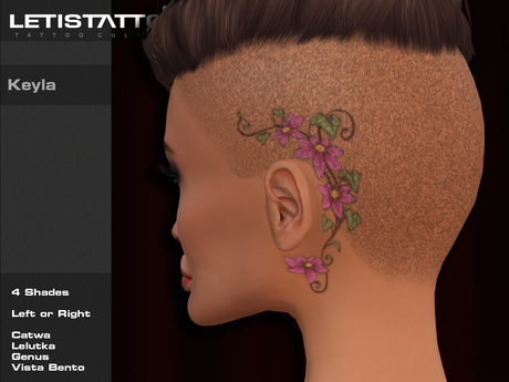 Letis Tattoo :: Keyla :: Head Tattoo With Appliers