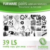 "FURWARE pairs add-on textures ""Monochrome"" by Tom Lowe"