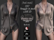 baii maii 287 Snuggle in pack wHUD Shirt panties Mesh Maitreya Slink Belleza Blouse Cardigan Womans Apparel