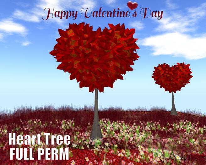 [ FULL PERM ] Heart Tree & flower field